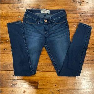 blue denim jean leggings